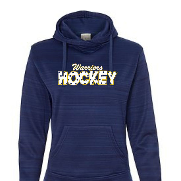 Warriors Hockey Ladies Odyssey Poly Hoodie- Matte or Glitter