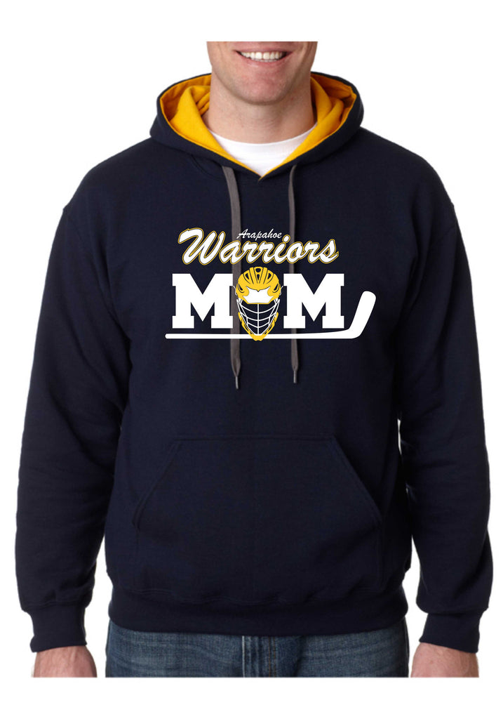 Warriors Mom Contrast Hoodie- Matte or Glitter