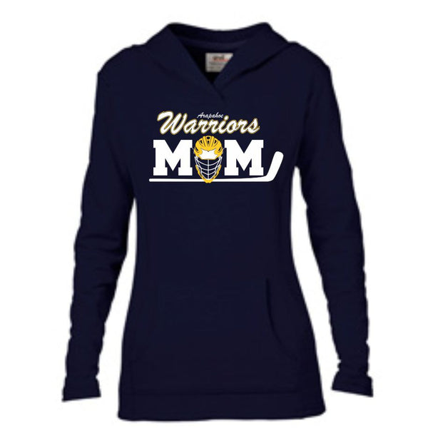 Warriors Mom Hooded French Terry- Matte or Glitter
