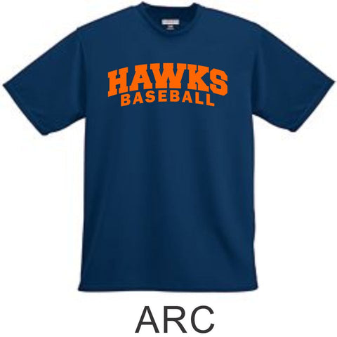 Hawks Baseball Wicking T-Shirt- 4 Designs
