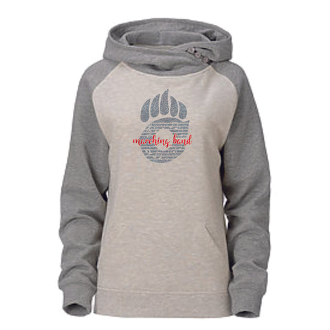 Chap Band Ladies Asymmetrical Hoodie - Matte or Glitter