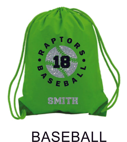 Raptors Sports Design Cinch Sac- 4 Sports