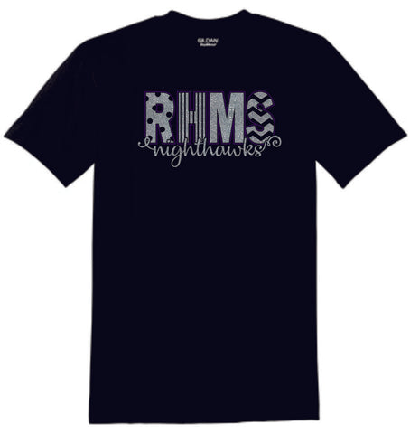 RHMS Basic Curly Tee- Matte or Glitter
