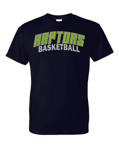 Raptors Arc Design Basic Tee- 4 Sports- Matte or Glitter