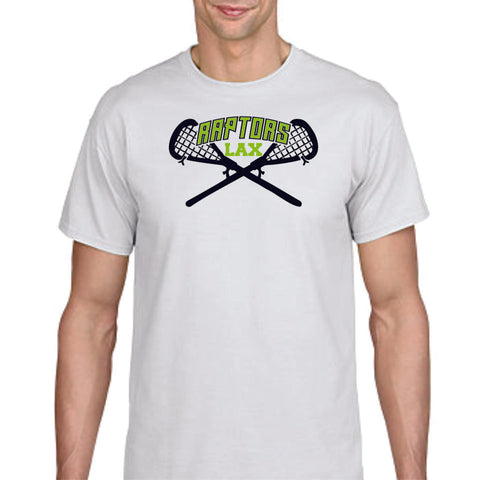 Raptors Lacrosse Sticks Design Basic Tee- Matte or Glitter