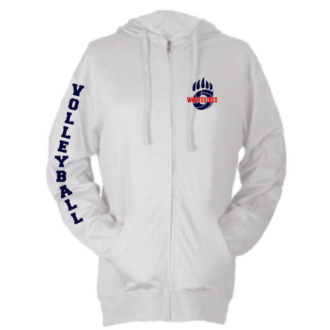 Chap Volleyball Small Claw Beach Zip Up Hoodie