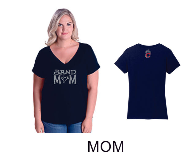 Chap Band Curvy Ladies Tee- 4 Designs- Matte or Glitter