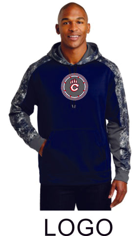Chap Band Colorblock Hooded Wicking Sweatshirt- in 2 designs