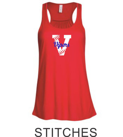 Vipers Flowy Tank- 3 designs- Matte or Glitter
