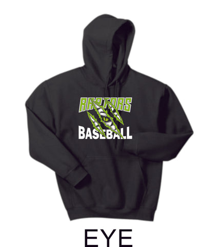 Raptors Baseball Hooded Sweatshirt- 5 designs- Matte or Glitter