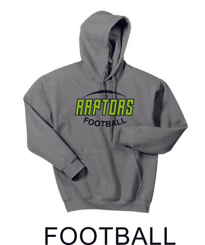 Raptors Football Hooded Sweatshirt- 5 designs- Matte or Glitter