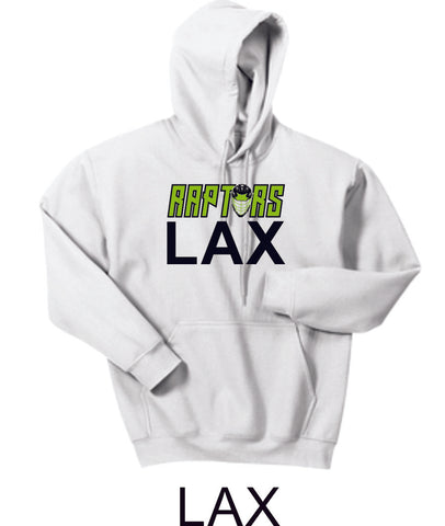 Raptors Lacrosse Hooded Sweatshirt- 5 designs- Matte or Glitter