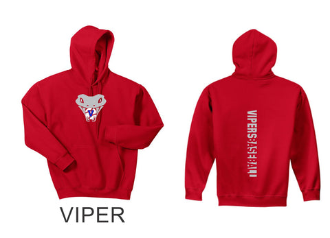 Vipers Hooded Sweatshirt- 3 designs- Matte and Glitter