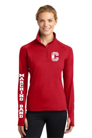 Chap Band Ladies Sport Wick 1/2 Zip Pullover