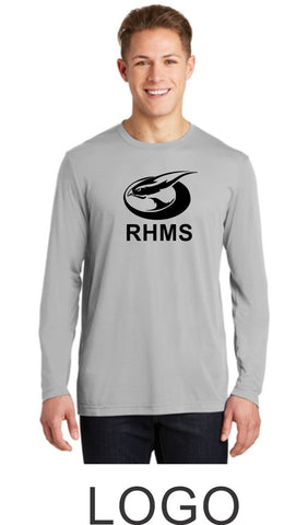 RHMS Unisex Sport Tek Long Sleeve Wicking Tee- 5 Designs