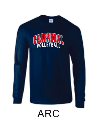 Chap Volleyball Long Sleeve Tee - 5 designs-Matte or Glitter