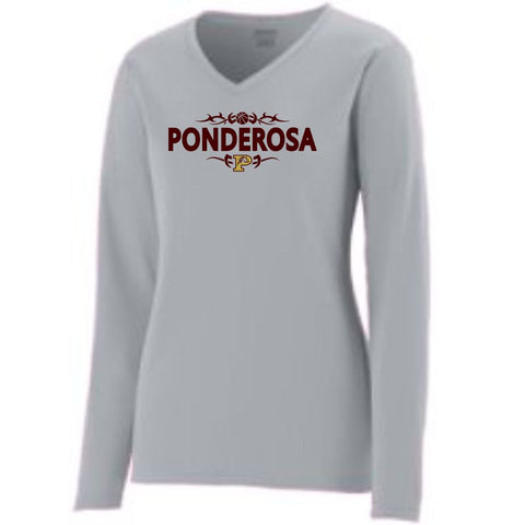 PHS Basketball Ladies Long Sleeve Wicking Tee