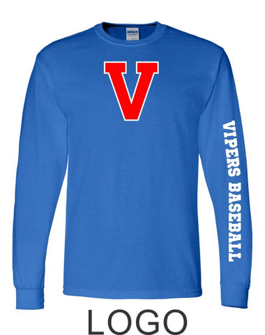 Vipers Long Sleeve Tee- 4 designs