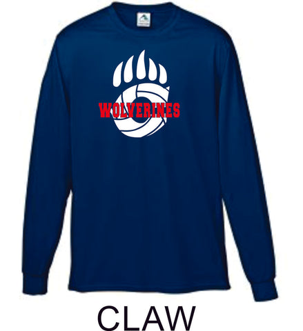 Chap Volleyball Wicking Long Sleeve Tee- 4 New designs