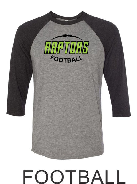 Raptors Football Raglan Unisex T-Shirt- 5 designs- Matte and Glitter