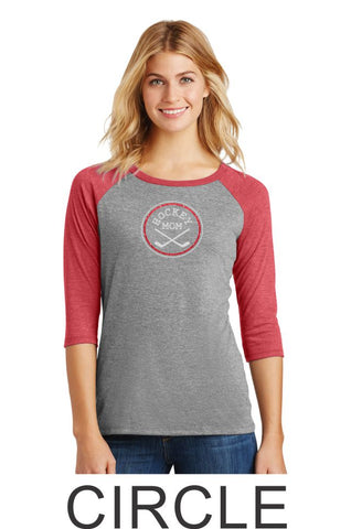 Hockey Mom Raglan- Matte or Glitter