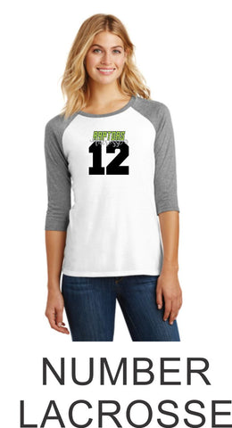 Raptors Ladies Raglan - 2 Designs- 4 Sports- Matte or Glitter