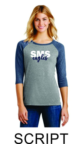 Sierra Ladies Raglan- 3 designs- Matte or Glitter
