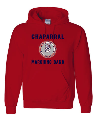 Chap Band Logo Hooded Sweatshirt- Matte and Glitter
