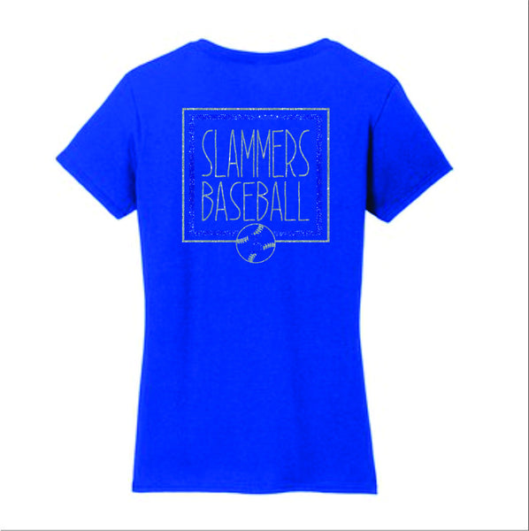Slammers Ladies Short Sleeve Tee- Square Design