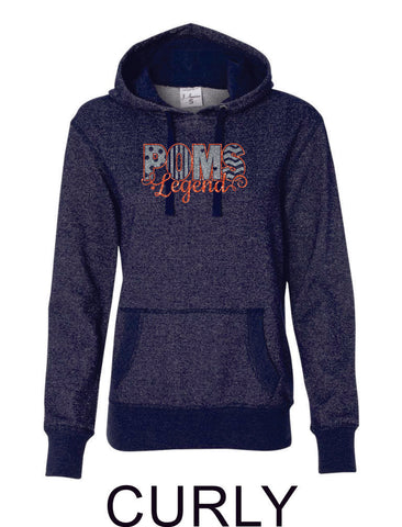 LT Poms Ladies Sparkle Fabric French Terry Hoodie-2 designs