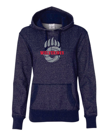 Chap Volleyball Ladies Sparkle Fabric French Terry Hoodie