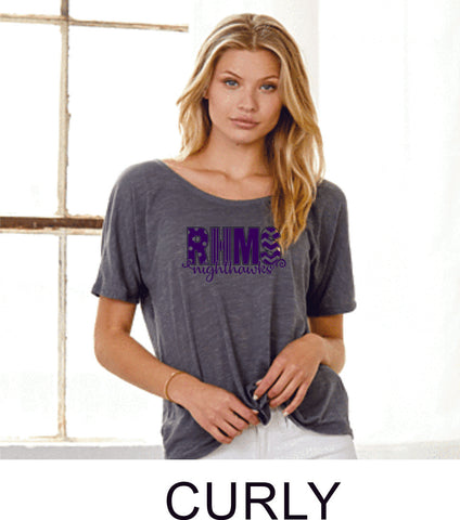 RHMS Slouchy Ladies Tee- 3 designs- Matte or Glitter