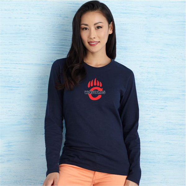 Chap Customized Long Sleeve Ladies Tee With Subway Design