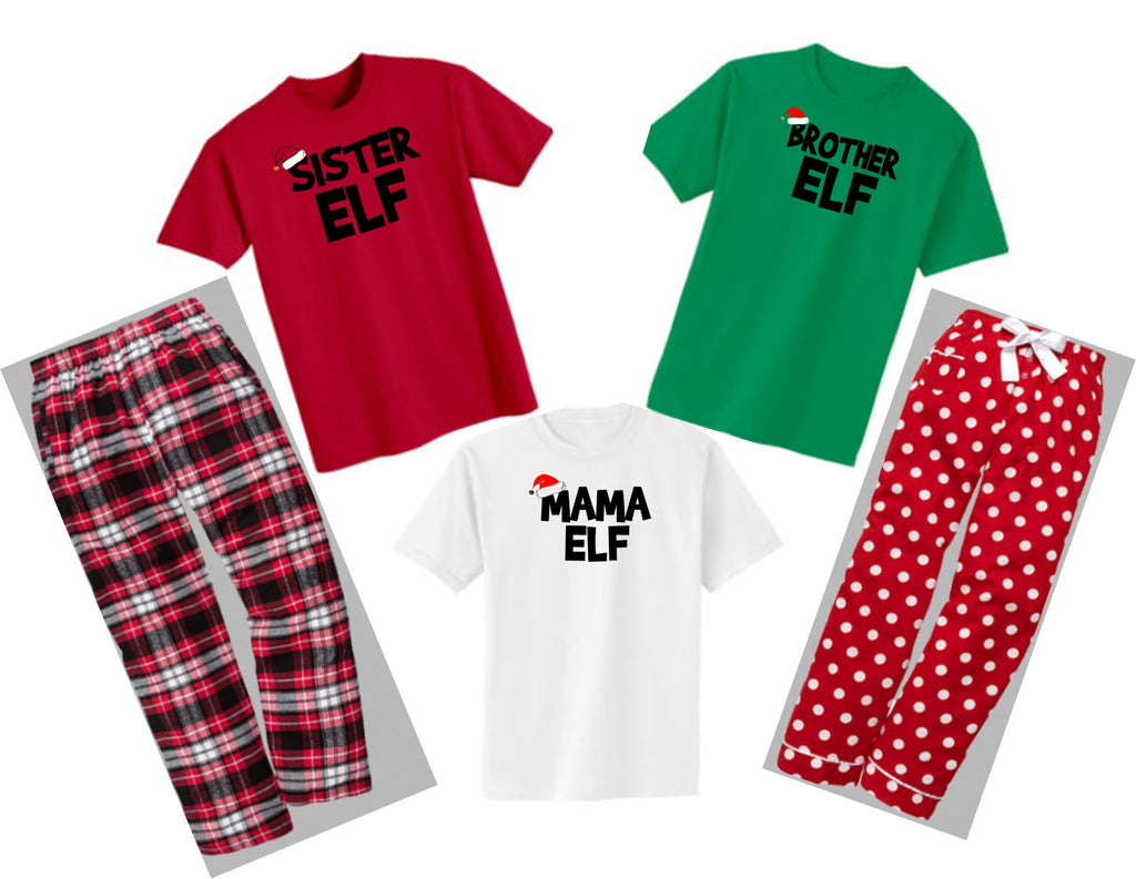 4fac749a8ccd Christmas Tee Jammies~ Elf Family – Schmancy Tees and Gifts