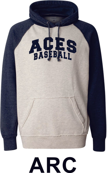 Aces Vintage Heathered Hoodie- 2 Designs- Matte or Glitter