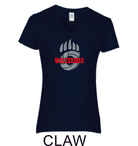 Chap Volleyball Ladies Fit Tee in 5 Designs- Matte or Glitter