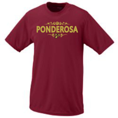 PHS Basketball Short Sleeve Wicking Tee