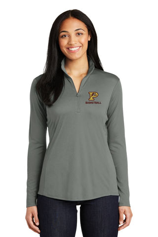 PHS Basketball Ladies 1/4 Zip Wicking Pullover