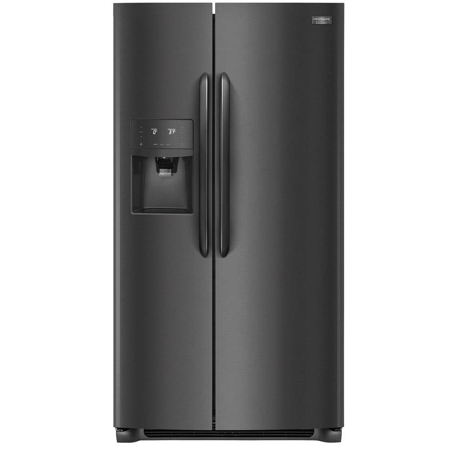 Frigidaire Gallery 25.5-cu ft Side-by-Side Refrigerator with Ice Maker (Fingerprint-Resistant Black Stainless Steel)