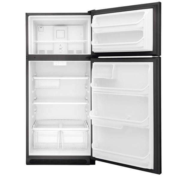 Frigidaire 18-cu ft Top-Freezer Refrigerator (Black)