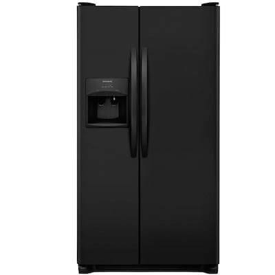 Frigidaire 22-cu ft Side-by-Side Refrigerator with Ice Maker (Black)