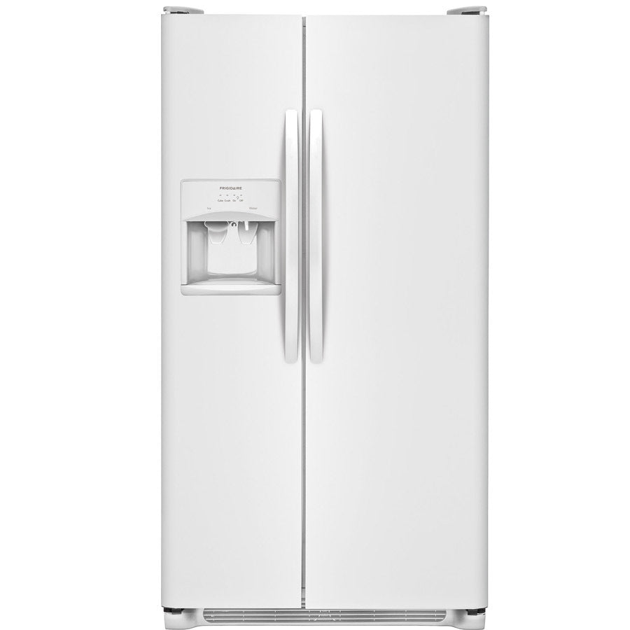Frigidaire 25.5-cu ft Side-by-Side Refrigerator with Ice Maker (White)