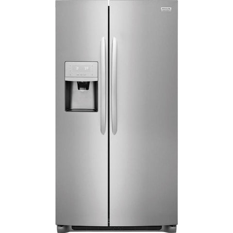 Frigidaire Gallery 22-cu ft Counter-Depth Side-by-Side Refrigerator with Ice Maker (Smudge-Proof Stainless Steel)