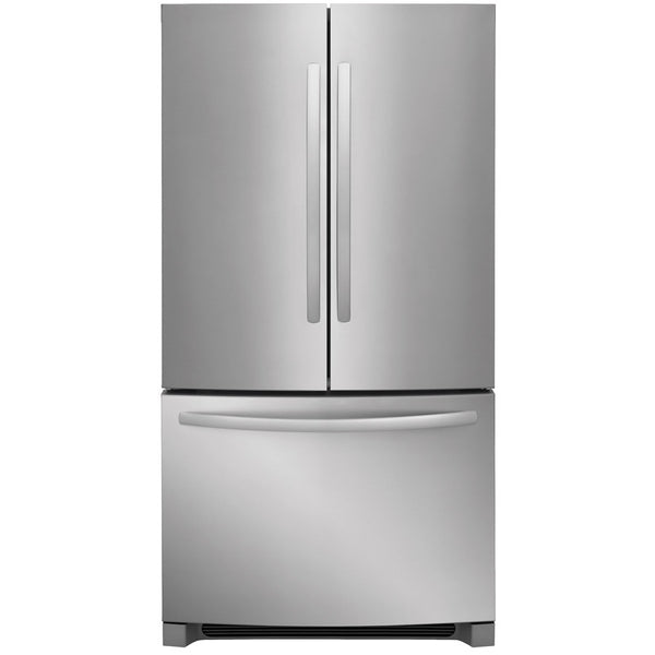 Frigidaire 22.4-cu ft Counter-Depth French Door Refrigerator with Ice Maker (EasyCare Stainless Steel)