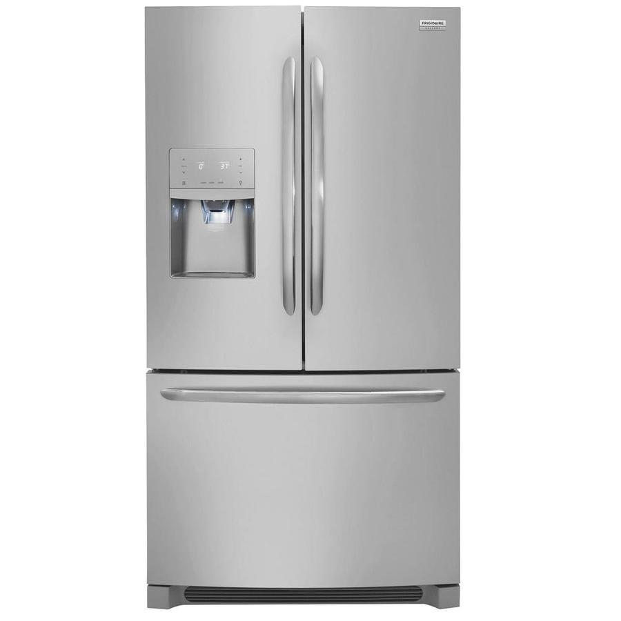 Frigidaire Gallery 26.8-cu ft French Door Refrigerator with Dual Ice Maker (Smudge-Proof Stainless Steel)