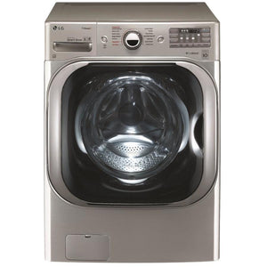 LG TWINWash Compatible 5.2-cu ft High Efficiency Stackable Front-Load Washer