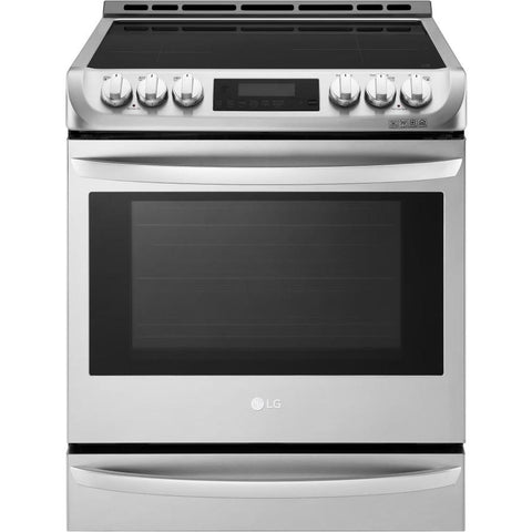 LG Easy Clean Smooth Surface 5-Element 6.3-cu ft True Convection Range