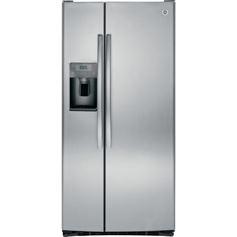 GE 22.5-cu ft Side-by-Side Refrigerator with Ice Maker (Stainless Steel)