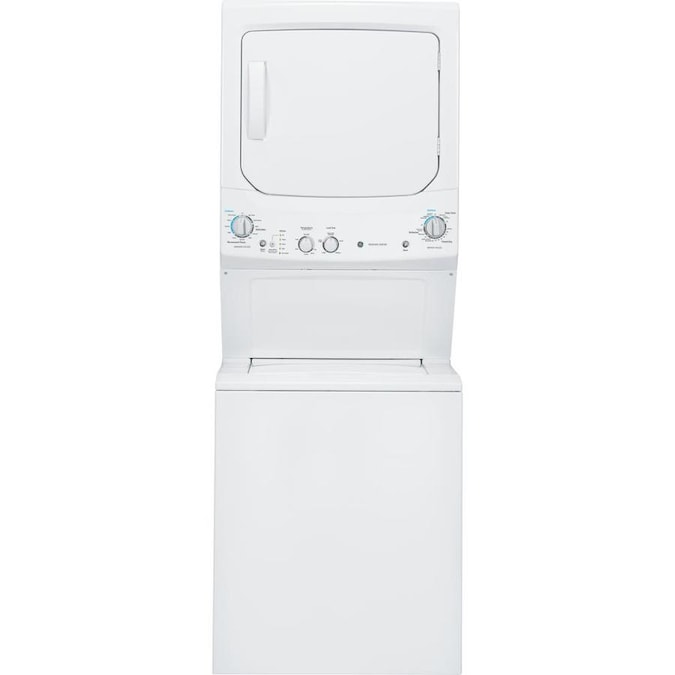 GE Stacked Laundry Center with 3.8-cu ft Washer and 5.9-cu ft Dryer (White)
