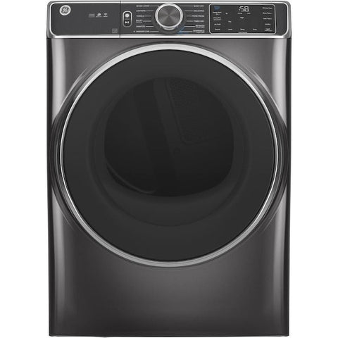 GE 7.8-cu ft Stackable Steam Cycle Electric Dryer (Diamond Gray)